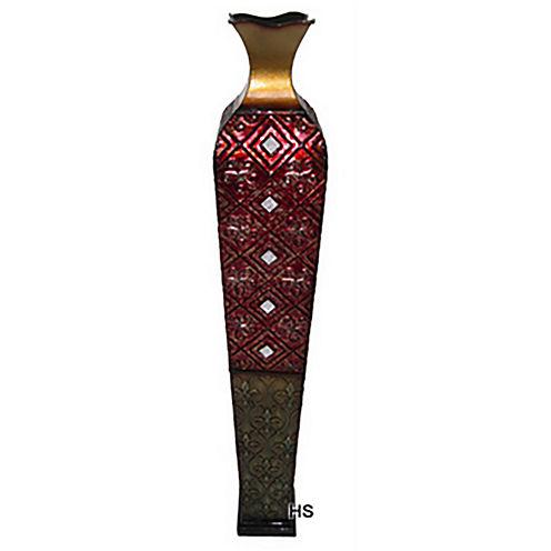 "38"" Red Trumpet Vase"