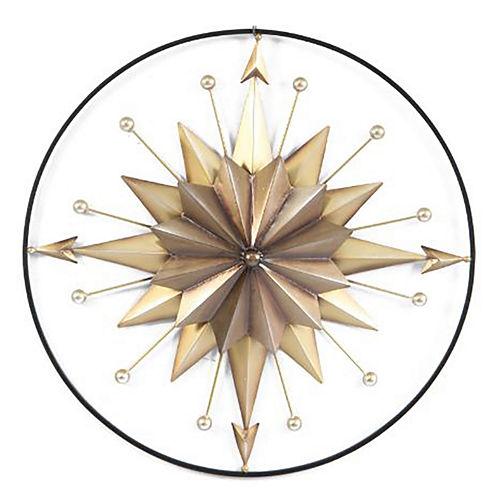 Starburst Compass Wall Decor
