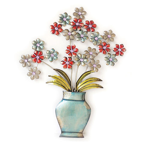 Flower Bunches Vase Wall Decor
