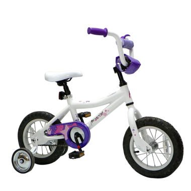 "jcpenney.com | Piranha Bitsy Lady Single-Speed 10"" Frame White Girl's Bike"