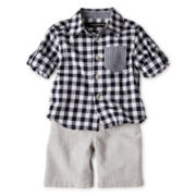 Wendy Bellissimo™ 2-pc. Checkered Short Set - Boys 6m-24m