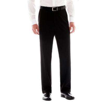 IZOD® Black Striped Flat-Front Suit Pants
