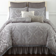 Royal Velvet® Zinnia 4-pc. Jacquard Comforter Set & Accessories