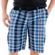 The Foundry Supply Co.™ Belted Plaid Cargo Shorts–Big & Tall