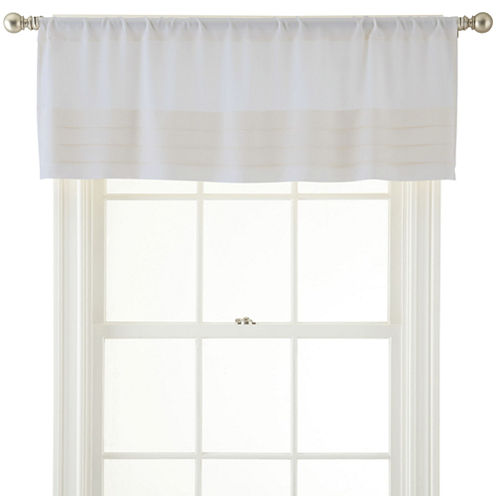 Royal Velvet® Ally Rod-Pocket Tailored Pleated Valance