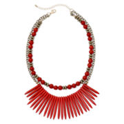Mixit™ Red and Gold-Tone 2-Row Spike Necklace