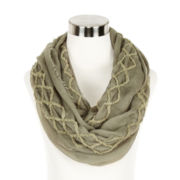 Diamond-Stitch Solid Loop Scarf
