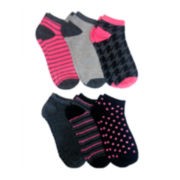 6-pk. Multi Pattern No-Show Socks