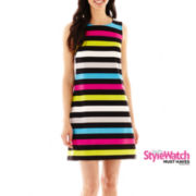 Worthington® Sleeveless Striped Shift Dress