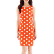 Alyx® Sleeveless Polka Dot Sheath Dress
