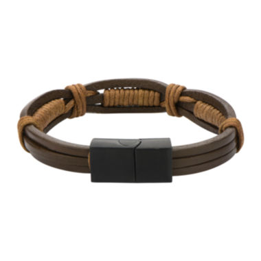 jcpenney.com | Mens Brown Leather and Rope Wrap Bracelet