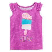 Okie Dokie® Graphic Tank Top – Baby Girls 12m-24m