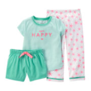 Carter's® 3-pc. Happy Pajama Set – Baby Girls12m-24m