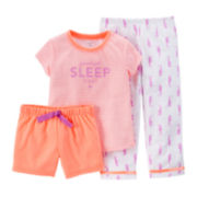 Carter's® 3-pc. Seahorse Pajama Set – Toddler Girls 2t-5t