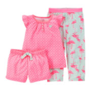 Carter's® 3-pc. Flamingo Pajama Set - Toddler Girls 2t-5t