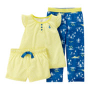 Carter's® 3-pc. Sailboat Pajama Set – Toddler Girls 2t-5t