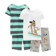 Carter's® 4-pc. Surfing Dog Pajama Set - Toddler Boys 2t-5t