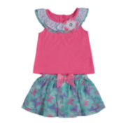 Little Lass 2-pc. Ruffle Top and Scooter Set - Toddler Girls 2t-4t