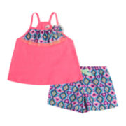 Little Lass 2-pc. Tank Top and Shorts Set - Toddler Girls 2t-4t
