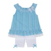 Little Lass 2-pc. Eyelet Tunic and Leggings Set – Toddler Girls 2t-4t