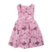 Rare Editions Pink Floral Sequin Dress – Preschool Girls 4-6x