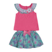 Little Lass 2-pc. Ruffle Top and Scooter Set - Preschool Girls 4-6x