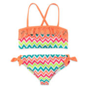 Angel Beach 2-pc. Chevron Swimsuit - Girls 4-6x