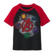 Marvel Avengers Symbol Raglan Tee – Boys 8-20