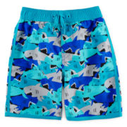 Arizona Shark Camo Swim Trunks - Boys 2t-5t