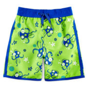Arizona Octopus-Print Swim Trunks - Boys 2t-5t