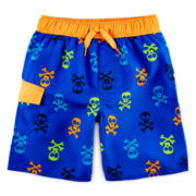 Arizona Skull-Print Swim Trunks - Boys 2t-5t