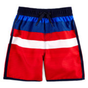 Arizona Americana Striped Swim Trunks - Toddler Boys 2t-5t