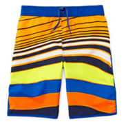 Arizona Wavy Swim Trunks - Preschool Boys 4-7