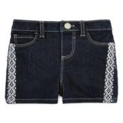 Arizona Embroidered Denim Shorties – Baby Girls 3m-24m