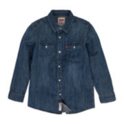 Levi's® Long-Sleeve Button-Front Western Denim Shirt – Boys 8-20