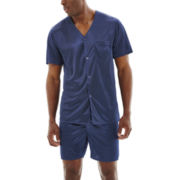 Stafford® Short-Sleeve Micro-Knit Pajama Set–Big & Tall