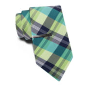 JF J. Ferrar® Multi Madras Tie and Tie Bar Set - Slim