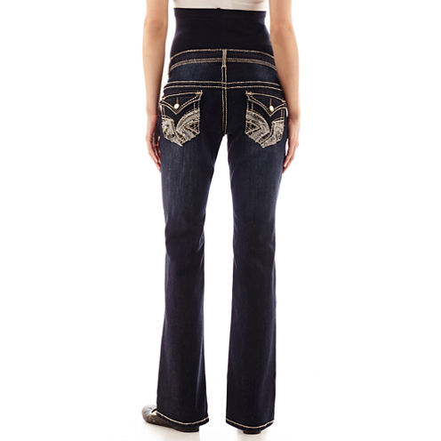 Tala Maternity Overbelly Flap-Pocket Bootcut Jeans - Plus