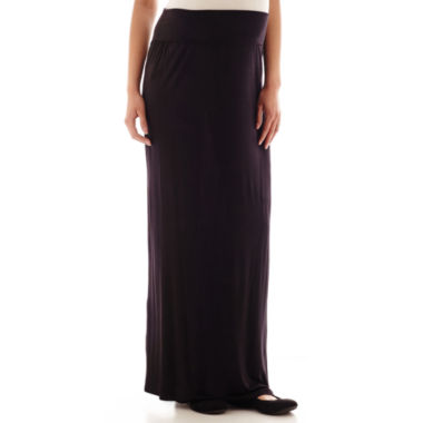 jcpenney.com | a.n.a® Maternity Wide-Waistband Maxi Skirt - Plus