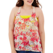 Arizona Crochet Racerback Tank Top - Plus