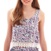 Arizona Cross-Back Crochet-Hem Tank Top
