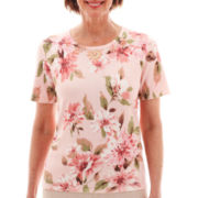 Alfred Dunner® Short-Sleeve Floral Print Top - Petite