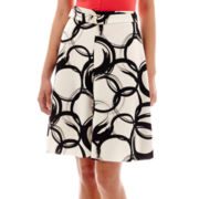 Worthington® Belted A-Line Print Skirt - Petite