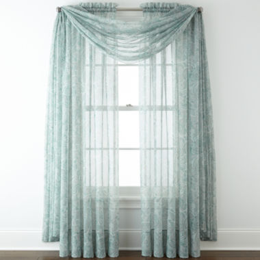 jcpenney.com | Liz Claiborne® Lisette Paisley Sheer Window Treatments