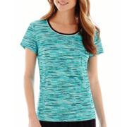 Made For Life™ Short-Sleeve Print Mesh T-Shirt - Petite