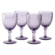 JCPenney Home™ Set of 4 Hobnail Goblets