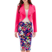 nicole by Nicole Miller® Moto Jacket, Tank Top or Print Pencil Skirt
