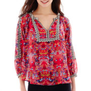 nicole by Nicole Miller® 3/4-Sleeve Print Blouse