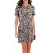 MNG by Mango® Short-Sleeve Snakeskin Print Dress