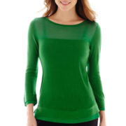 Worthington® 3/4-Sleeve Double-Hem Sweater